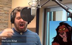Man singing Let it Go in multiple Disney voices!