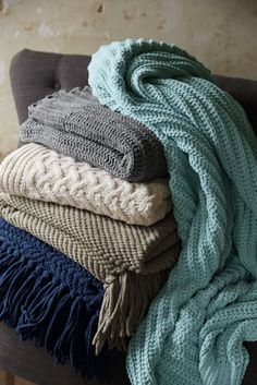 Chenille Ribbed Throw from Lands' End