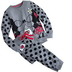 Mickey and Minnie Mouse Pajama Set for Women