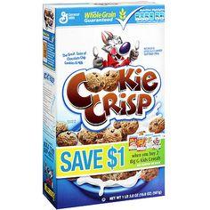 Betty Crocker Cookie Crisp Sweetened Cereal Cookie Crisp, General Mills, Betty Crocker, Frosted Flakes, Cereal, Nutrition, Cookies, Kids, Food