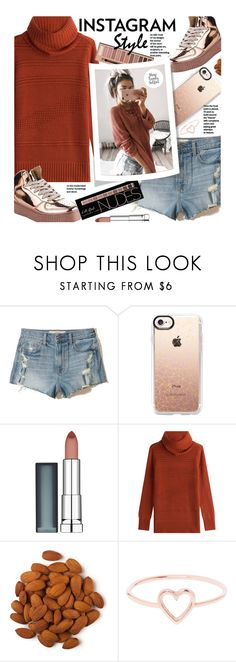 """Instagram Style"" by beebeely-look ❤ liked on Polyvore featuring Hollister Co., Casetify, Maybelline, Diane Von Furstenberg, Love Is, casual, instagram, DENIMCUTOFFS, instagramstyle and shoptrendyselfies"