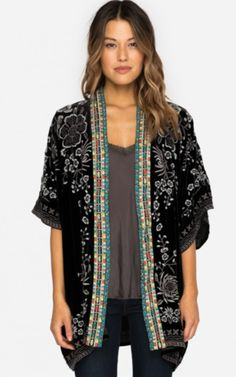Johnny Was Okinowa Embroidered Velvet Kimono https://cowgirlkim.com/collections/whats-new/products/johnny-was-okinowa-embroidered-velvet-kimono