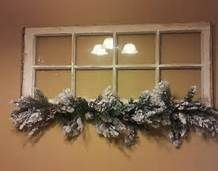 My 8 pane vintage window with frosted greenery pane ideas holiday Window Pane Decor, Window Art, Window Panes, Windows Decor, Window Ideas, Vinyl Windows, Wooden Windows, Christmas Store, Christmas Crafts