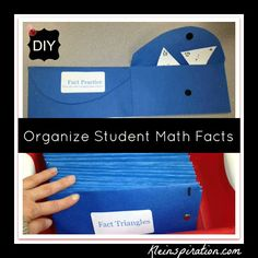 DIY: Organize your math facts (freebie included)