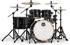 MAPEX AR628SFUBTB Armory Series Studioease Fast 6-Piece Drum Shell Pack, Transparent Black Mapex jsmartmusic.com