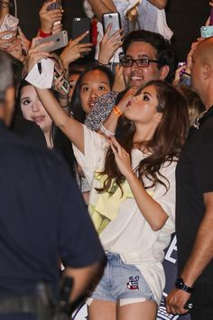 May 14: Selena meeting fans after her concert in Vancouver, BC