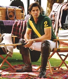 Argentinian polo player and Polo Ralph Lauren spokesman, Nacho Figueras.