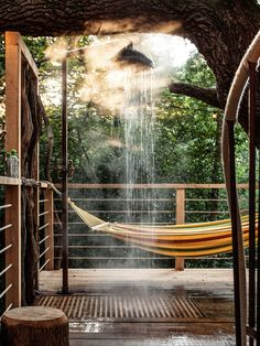 Great outdoor treehouse shower on a balcony!  Dwell.com                                                                                                                                                                                 More