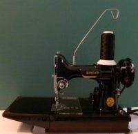 Singer Featherweight 221 Tip of the Month. Interesting site with lots of info I've never read before.  Did you know there are two different bobbin cases that and they aren't necessarily Interchangeable?   Good resource.