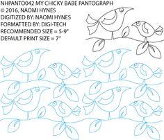My Chicky Babe Pantograph by Naomi Hynes NHPANTO042