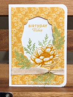 Birthday Cards For Women, Handmade Birthday Cards, Fall Cards, Sympathy Cards, Paper Cards, Flower Cards, Paper Design, Homemade Cards, Stampin Up Cards