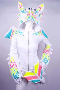 """Cute Dragon Hoodie"" I think ""outlandishly odd dragon hoodie is a better fit..."