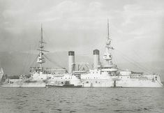 """battleship """"Tsesarevich"""" in Port-Arthur"""