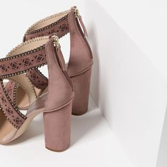 SCALLOPED HIGH HEEL SANDALS-View all-SHOES-WOMAN | ZARA United States