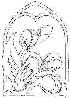 Tulipe, motif pour kirigami