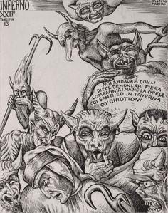 MONSTER BRAINS: Alberto Martini - Illustrations from Dante's ...