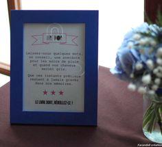 Table livre d'or mariage bleu - Solange Alia