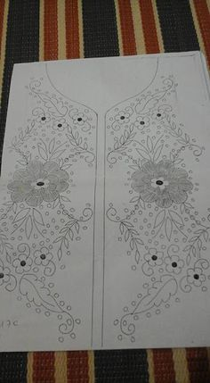 Rizvan shaikh's media statistics and analytics Embroidery On Clothes, Embroidery Fashion, Lace Embroidery, Embroidery Kits, Embroidery Stitches, Hand Embroidery Design Patterns, Flower Embroidery Designs, Tangle Art, Designs To Draw