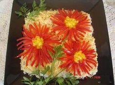 Come decorare l'insalata.......Украшаем салаты красиво!!!Легко и просто - Простые рецепты Овкусе.ру