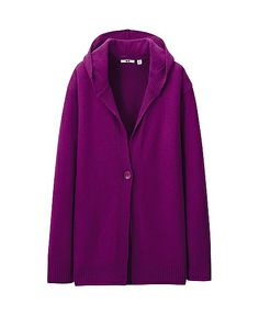 Cashmere blend hooded cardigan from Uniqlo