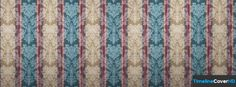 Blue Red Beige Damask Stripe Pattern Facebook Cover Timeline Banner For Fb Facebook Cover
