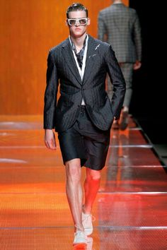 """This is from Louis Vuitton's S/S 2013 line. I really like this, I wore shorts to my internship this summer when it was """"against the rules"""", but my boss said she dug the look. Guess Louis does too.- Buck"""
