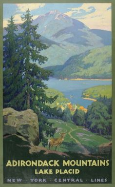 Adirondack Mountains Lake Placid Print Albany Institute of History and Art.