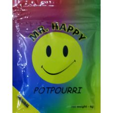 Mr Happy Herbal Incense has a special kick to it that just brings a big smile to your face. - http://mad-potpourri.com/