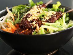 Vietnamese noodle salad (bun thit nuong).