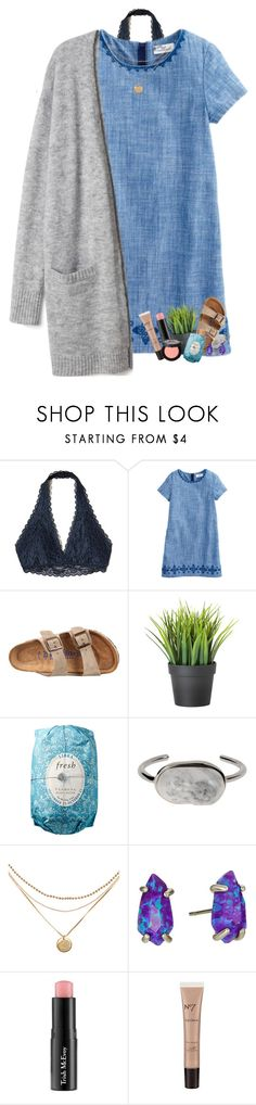 """The voices in my head are fighting"" by livnewell ❤ liked on Polyvore featuring Hollister Co., Birkenstock, Fresh, Balenciaga, Kendra Scott, Trish McEvoy, Boots No7 and Too Faced Cosmetics"