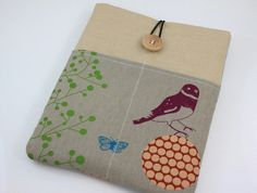 iPad Case iPad Sleeve iPad Cover PADDED with pockets by PinkOasis