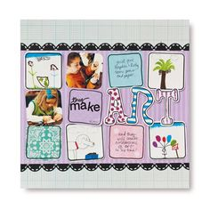 Layout to use for school art page  #scrapbooking