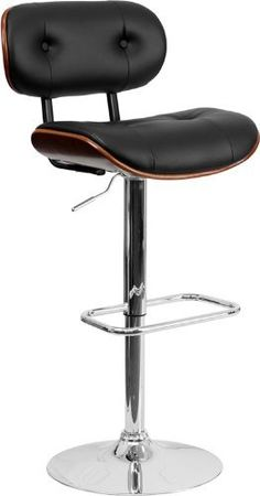 Black vinyl and curved wood bar stools for sale by Flash Furniture including this beech bentwood adjustable height bar stool with chrome base. Enjoy our best new wood bar stools for restaurant, home, and cafe use on sale! Black Bar Stools, Wood Bar Stools, Swivel Bar Stools, Counter Stools, Bar Chairs, Shop Stools, Wood Table, Room Chairs, Contemporary Bar Stools