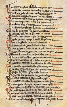 Manuscrito del siglo XIV de los Milagros de Nuestra Señora.MarcosLafont