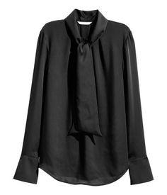 Bow Blouse | Black | Ladies | H&M US