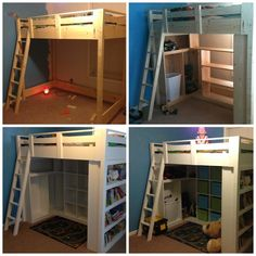 Loft Beds: Maximizing The Area Of Small Spaces – Bunk Beds for Kids Bunk Beds With Stairs, Kids Bunk Beds, Loft Bunk Beds, Big Girl Rooms, Boy Room, Loft Spaces, Small Spaces, Small Rooms, Kids Bedroom
