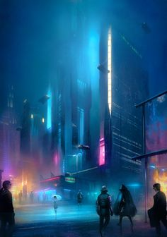 This week we'll be doing a grab bag of beautiful cyberpunk art. No theme, just pure cyberpunk beauty. I do my best to find and give credit to the original artist. Cyberpunk City, Cyberpunk Kunst, Cyberpunk Aesthetic, City Aesthetic, Futuristic City, Cyberpunk 2077, Futuristic Technology, Futuristic Architecture, Technology Gadgets