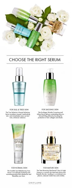 Although a serum may add one step to your daily skin care routine, their powerful formulas to combat skin wrinkles, dullness and dehydration can make all the difference! But how should you choose? Simply select your skin type to discover which serum works best.