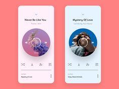 Playlist by Jagruti Jaykar Ios App Design, Mobile Ui Design, Interface Design, Web Design, Android Design, App Design Inspiration, Music App, Graphic Design Print, Web Layout