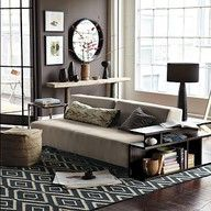 I like the couch and the rug.