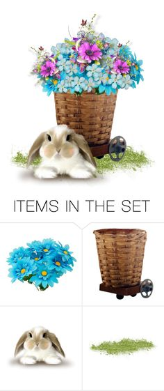 """""""flower basket"""" by mzmaldita1376 ❤ liked on Polyvore featuring art"""
