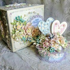 Beautiful detailed decoration on this box by Olga Markovic