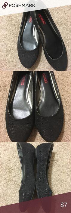 Bongo Sparkle Black Dress shoes Used. Flats. BONGO Shoes Flats & Loafers