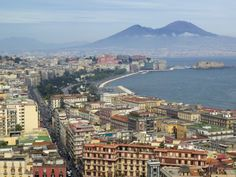 Mt. Vesuvius and View over Naples, Campania, Italy Photographic Print
