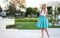 Leanne Barlow | TAKE A BOW SKIRT: MINT | Online Store Powered by Storenvy