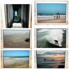 beach photo cards set of 6 Huntington Beach by RoadAheadPhotos, $18.00 #castteam