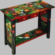 Funky+Hand+Painted+Furniture | Funky Hand Painted Furniture | ... Folk ...
