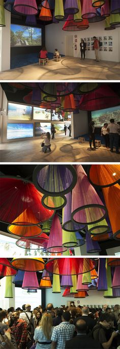 Dominikanische Republik // Expo 2015 in Behance - Olivia - Moodboard Innenarchitektur Temporary Architecture, Instalation Art, Deco Luminaire, Expo 2015, Wow Art, 3d Prints, Stage Design, Booth Design, Art Plastique