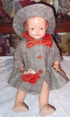 Winter Ready Effanbee Baby Dainty Composition Mama Doll