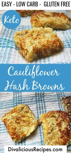 Cauliflower hash browns are a great keto breakfast dish or even a brunch. Cauliflower hash browns are a great keto breakfast dish or even a brunch. Best Keto Breakfast, Breakfast Dishes, Breakfast Recipes, Sausage Breakfast, Breakfast Smoothies, Breakfast Casserole, Breakfast Ideas, Hash Browns, Sin Gluten